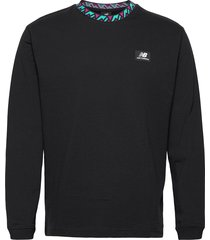 nb athletics terrain ls shirt t-shirts long-sleeved svart new balance