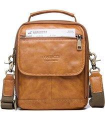 borsa a tracolla vera pelle multifunzionale vintage borsa per uomo