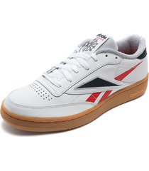 tenis lifestyle blanco-rojo-azul reebok club c 85 mu