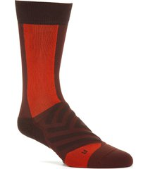 men's on crew socks, size x-large - brown