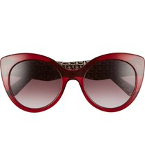 women's salvatore ferragamo classic 54mm gradient cat eye sunglasses -