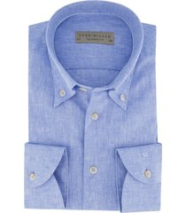 john miller overhemd blauw gemeleerd tailored fit