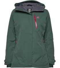 qst snow jkt w outerwear sport jackets grön salomon