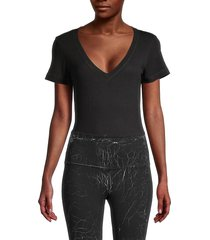 vimmia women's short-sleeve bodysuit - black - size s