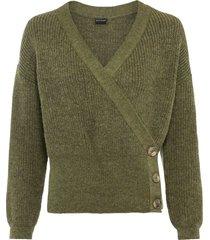 maglione a portafoglio (verde) - bodyflirt