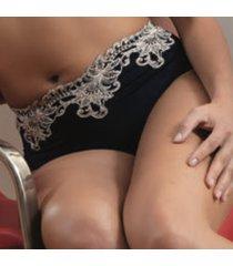 ambra lingerie slips titanium hoge slip blauw 1434