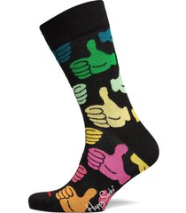 big thumbs up sock underwear socks regular socks svart happy socks