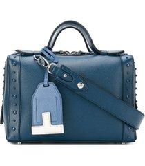 tod's bolsa tiracolo 'gommino' de couro - azul
