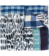 pierre-louis mascia aloesta double-sided scarf - blue