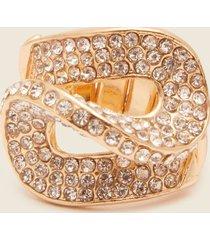 anillo cerrado con cristales. uni