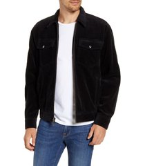 men's frame corduroy trucker jacket, size xx-large - black