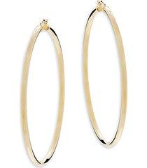 "14k gold classic hoop earrings/2.5"""