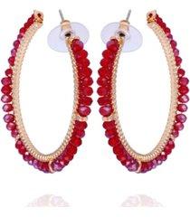 nanette nanette lepore winter garden beaded c-hoop earring