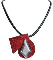 collana di cuoio della collana della collana delle donne trendy
