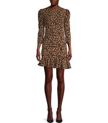 ada leopard-print mini dress