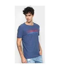 camiseta replay lettering masculina