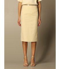 n.21 n° 21 skirt n ° 21 pencil skirt in cotton