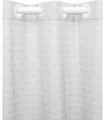 cortina  santista 250x400 calais prata - prata - dafiti