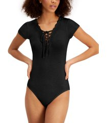 polly & esther juniors' lace-up bodysuit