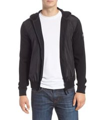 men's canada goose black label windbridge regular fit hooded sweater jacket, size medium - black