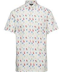 vector stilos short overhemd met korte mouwen crème mads nørgaard