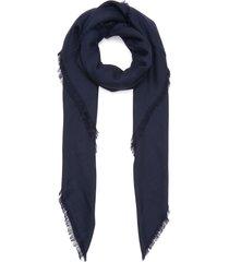 giant anagram raw edge scarf