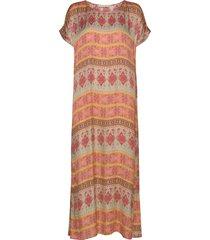 sophia t-shirt dress maxi dress galajurk oranje odd molly