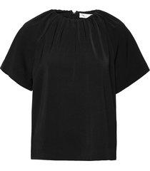 adiaiw top blouses short-sleeved zwart inwear