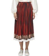 lange gestreepte zijden rok