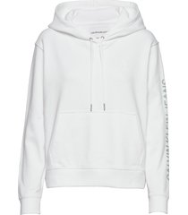 degrade logo relaxed hoodie trui wit calvin klein jeans