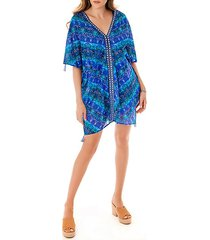 blu curacao cotton caftan