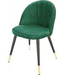 krzesło tapicerowane kobe zielone