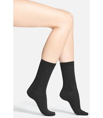 women's smartwool 'cable ii' crew socks, size medium - black