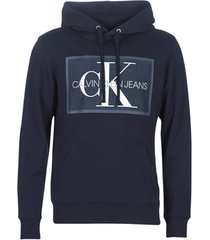 sweater calvin klein jeans chambray monogram hoodie patch