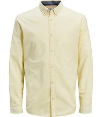 jack & jones overhemd 12163855 golden haze - geel