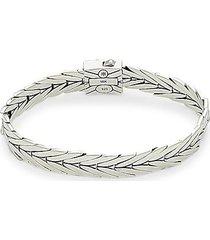 modern chain sterling silver & 18k yellow gold bracelet