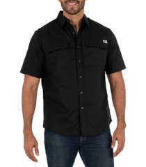 wells lamont men's short sleeve ventilated back flex performance ripstop work shirt