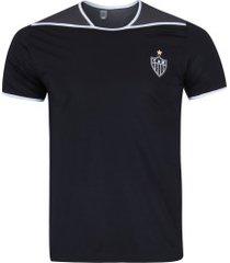 camiseta do atlético-mg up - masculina - preto/cinza esc