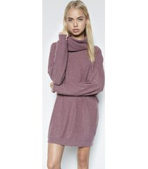 vargus turtle neck dress - l sangria