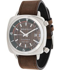 briston watches clubmaster diver yachting watch - brown