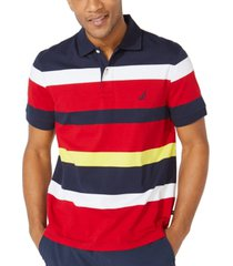 nautica men's big & tall classic-fit performance striped jersey polo shirt