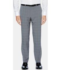 perry ellis men's portfolio modern-fit performance stretch non-iron moisture-wicking plaid dress pants