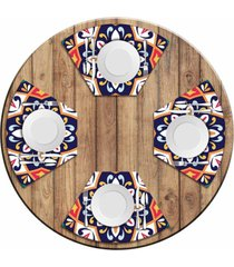 jogo americano love decor para mesa redonda wevans mandala colorida kit com 4 pçs