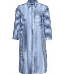 shirt style dress knälång klänning blå marc o'polo