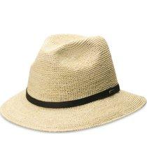 dorfman pacific men's crocheted raffia safari hat