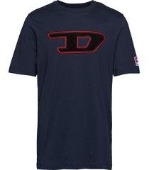 t-just-division-d t-shirt t-shirts short-sleeved blå diesel men