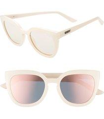 women's quay australia noosa 55mm cat eye sunglasses - pearl/ rose