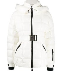 moncler grenoble belted padded jacket - white
