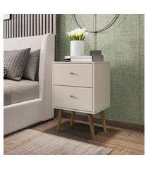 mesa de cabeceira móveis bechara mb2015 2 gavetas off white