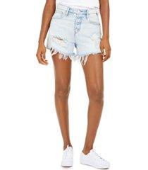hudson jeans jade ripped cotton boyfriend shorts